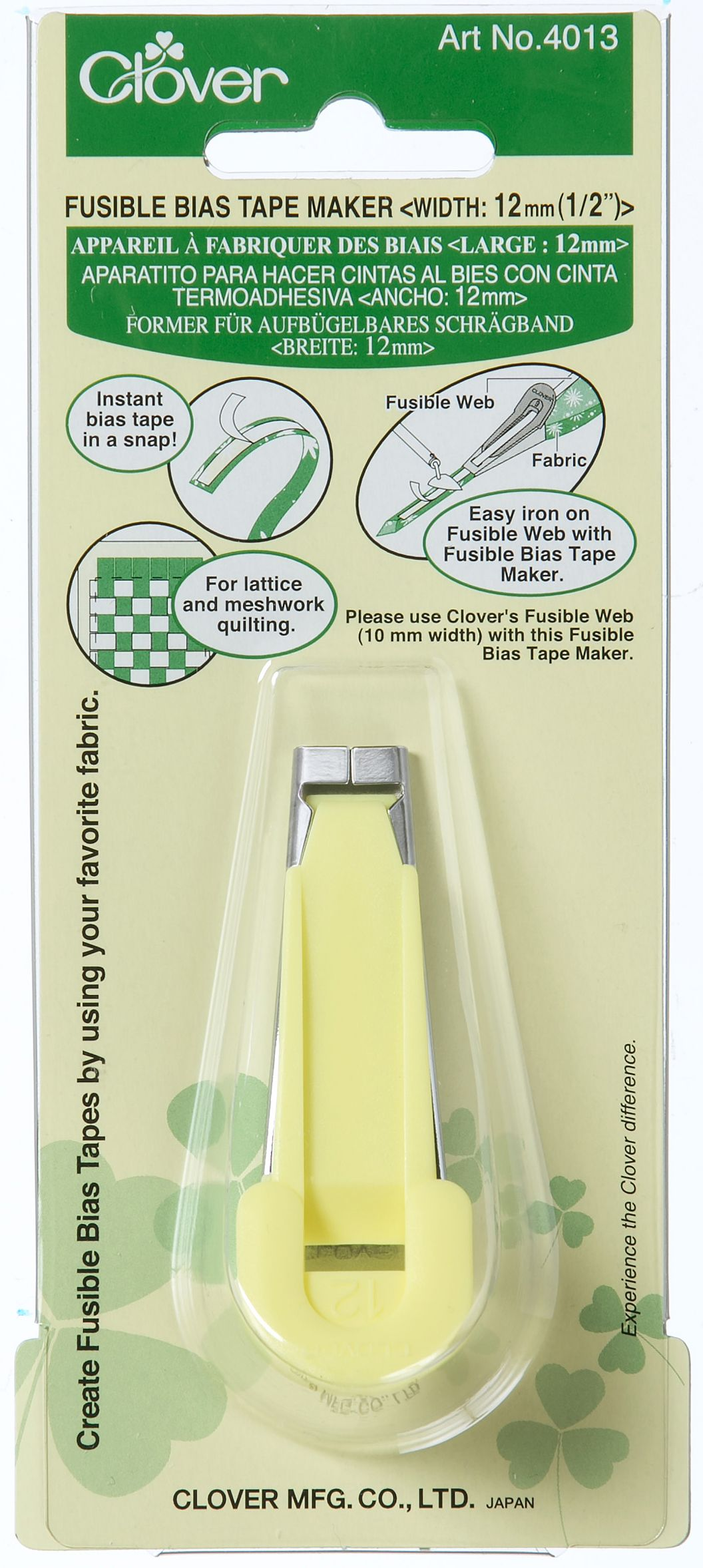 Clover Fusible Bias Tape Maker 12 mm