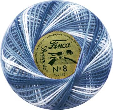 Finca Perle Variegated No.8 - Variegated Antique Blue
