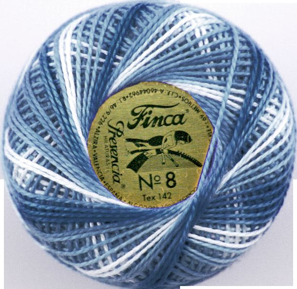 Finca Perle Variegated No.12 - Variegated Antique Blue