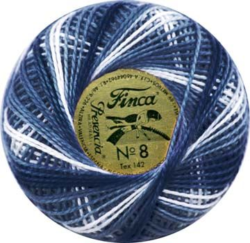 Finca Perle Variegated No.16 - Variegated Royal Blue