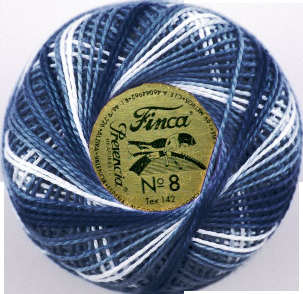 Finca Perle Variegated No.12 - Variegated Royal Blue