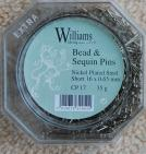 Bead & Sequin Pins Short 16 x 0.65 mm