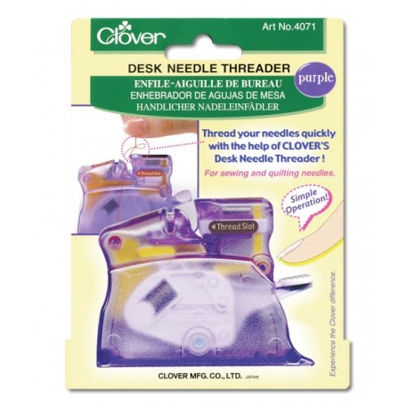 Clover Desk Needle Threader - Purple